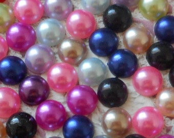 Jelly diaries Pearly acrylic 8 mm in diameter (per 50 jelly) craft or decoration for hobby.