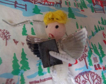 singing angel ornament