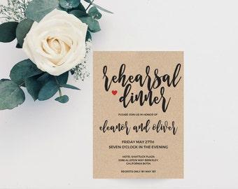 Boho Wedding Rehearsal Dinner Invitation Template, Wedding Rehearsal Invitation, Printable Wedding Rehearsal Invite, Rehearsal Dinner Invite
