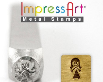 MOMMY Stick Design METAL STAMP 7mm Jewelry Steel Punch ImpressArt Family Figure Stamps Custom Stamping Jewellery