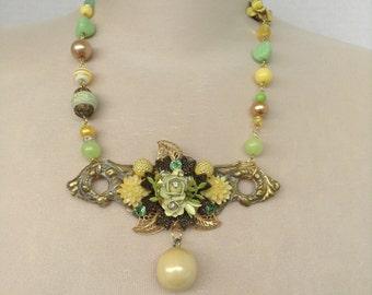 Floral Assemblage Necklace