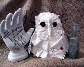 Hedwig Inspired Owl Art Doll