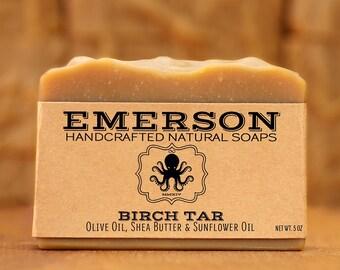 100% Natural Vegan Birch Tar Soap • Sensitive Skin Soap, Vegan Soap, Palm Free Soap, All Natural Soap, Handmade Soap, Zero Waste, Waste Free