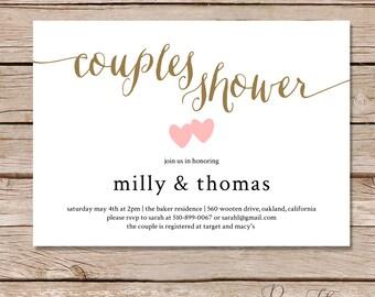 Couples Shower invitation / Couples wedding shower Invite / DIY Printable digital file / printable invitations / printed invitations
