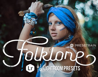 Folklore Lightroom Preset Pack - 7 Lightroom Presets with moody folk themed toning optimized for outdoor portraits, fashion and boho