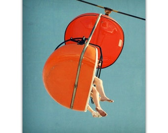 orange art print // mid century modern photography // santa cruz art print - SkyGlider I, original photograph art print