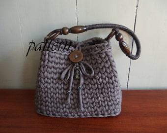 Digital crochet pattern t-shirt yarn bag/download crochet bag pattern/ Zpagetti bag pattern/ xl crochet pattern/ yarn bag crochet pattern.