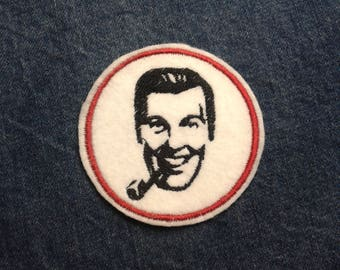 J.R. Bob Dobbs Patch ~ Church of the Subgenius Patch ~ Slack  ~ Embroidered  Patch ~ Iron-On Sew-On