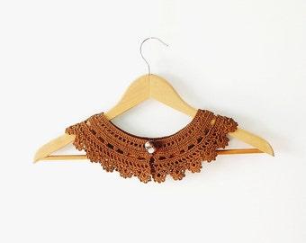 Brown Lace Collar Detachable Collar