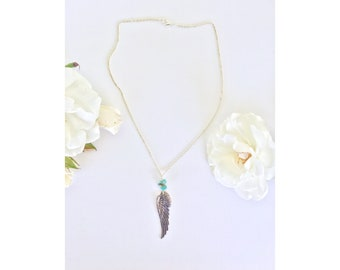 Angel Wing Turquoise Necklace