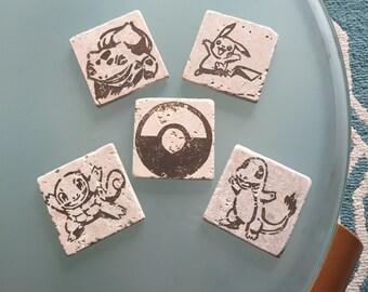 Pokémon Stone Coasters