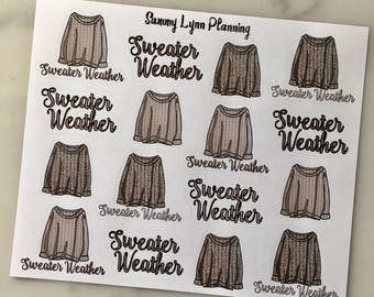Sweater Weather Planner Stickers