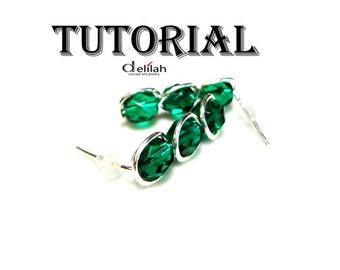Easy Post Earrings Tutorial Wire Wrap Jewelry Earring Tutorial Wire Wrap Tutorial Wire Earring Tutorial Stud Earrings Tutorial Wire Tutorial