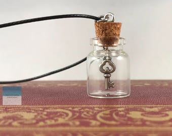 Key Necklace, Skeleton Key, Skeleton Key Necklace, Key To My Heart, Key in a Bottle, Key Jewelry