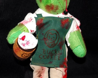 Zombie Coffee Barista Bear