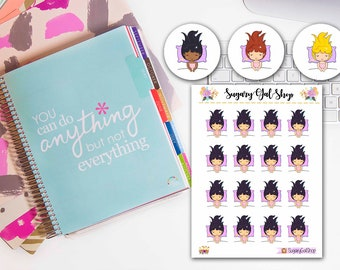 Nap Time Lady D Planner Stickers