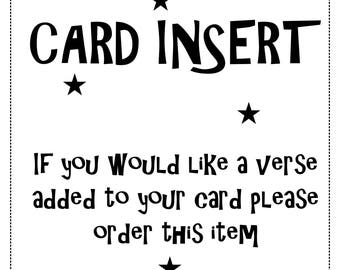 Add to any card - CARD INSERT