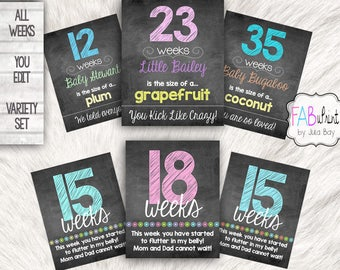 Weekly Pregnancy Chalkboard, Maternity Photo Prop, Pregnancy Week By Week, Baby Bump Sign, Pregnancy Countdown, Baby Countdown, Weekly Baby