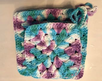 Crochet washcloths - handmade washcloths - 100% cotton- Eco by Segao