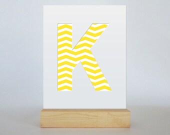 Letter K Monogram Cut Paper Design