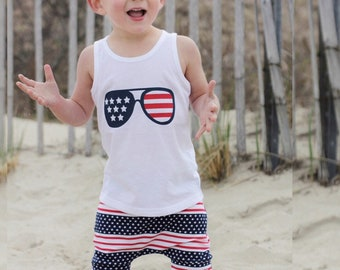 Stars and Stripes (4th of July) Tank & Shorites Set