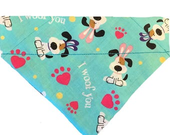 I Woof You Easter Day Over-the-Collar Dog Bandana