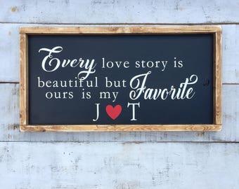 Every love story/ love/ signs/ wood signs/ farmhouse style/ farmhouse decor/ gifts/ rustic farmhouse/ farmhouse signs