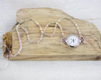 Personalized Jewelry - Jewelry - 925 Silver Jewelry - Initial Jewelry - Silver Jewelry - Unique Jewelry - Initial Necklace (9-5N)
