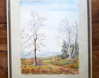Wilhelm Schnarrenberger Watercolor Painting, Wilhelm Schnarrenberger Art, Original Painting, Original Art, Watercolor Painting