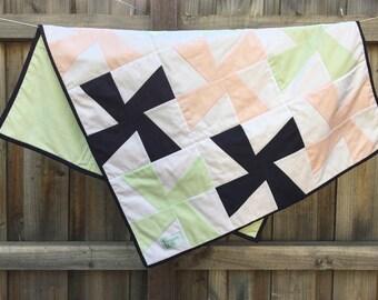 Navy | Pink | Green Pinwheel Quilt