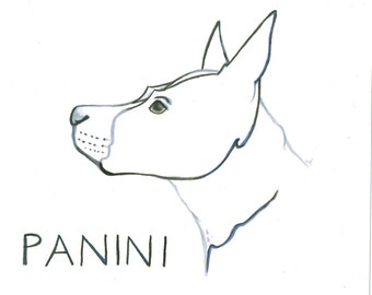 Custom Dog Line Drawing- Minimalist Line Drawing-Dog Owner Gift