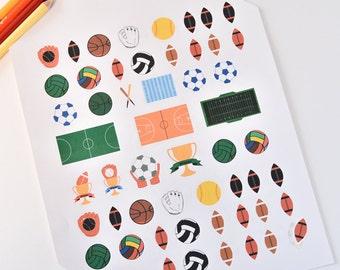 47 Sport Planner Stickers, Sport Planner Stickers, Sport Erin Planner Stickers