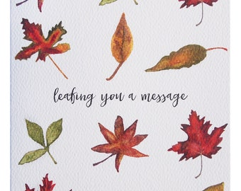 Leafing A Message