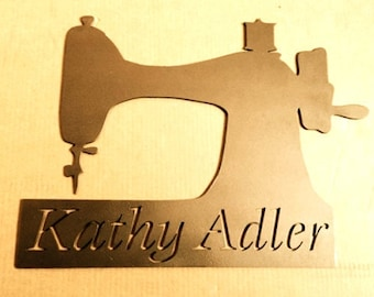 Antique Sewing Sign - Personalized Sewing Room Sign -  Sewing Room Personalized Sign