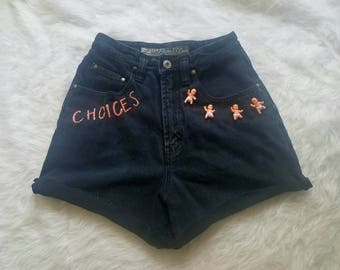 Pro-Choice Shorts / Choices Plastic Baby Shorts/ Abort Shorts / Embroidered Shorts / Feminist Shorts / Pro Choice