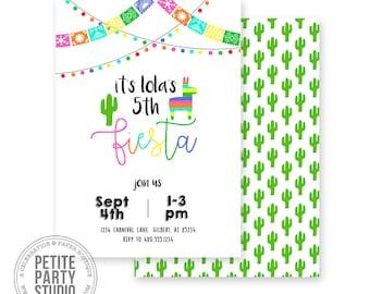 Fiesta Birthday Party Printable Invitation - Birthday or Baby Shower - Petite Party Studio