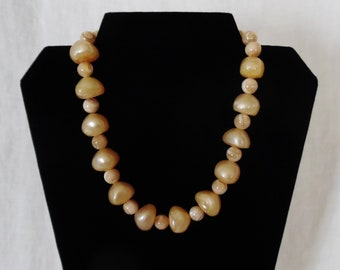 Golden Bead Toggle Necklace