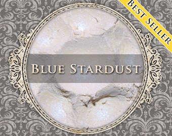 BLUE STARDUST Shimmer Eyeshadow: Samples or Jars, Iridescent Blue, Loose Powder Eyeshadow, Vegan Cosmetics, Ships Out in 5-8 Days