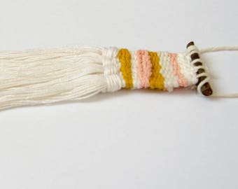 Handwoven necklace, woven jewelry, fiber jewelry, textile necklace, tassel necklace