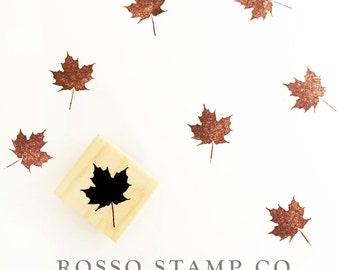 Maple Leaf Stamp - Autumn Leaf Stamp - Fall Stamps
