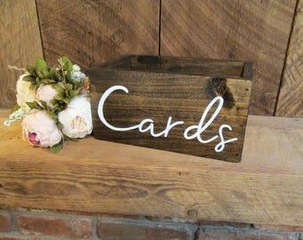 card box, wedding card box, wooden card box, rustic card box, wood card box, bridal shower gift, card holder, cards, rustic wedding decor