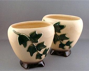 Vintage Green Ivy Planters Royal Copley