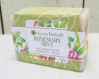 Rosemary Mint Bar of Soap - Green Daffodil