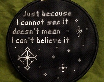 Nightmare Before Christmas cross stitches wall art