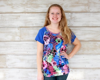 Floral Tops, Floral Print Fabric, Graphic Tee, Womens Tops, Fashion Tshirt, Fashion Tees, Gift for Her, Tops and Dresses, Tops Tees, Canada