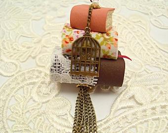 Book Pendant Necklace miniature