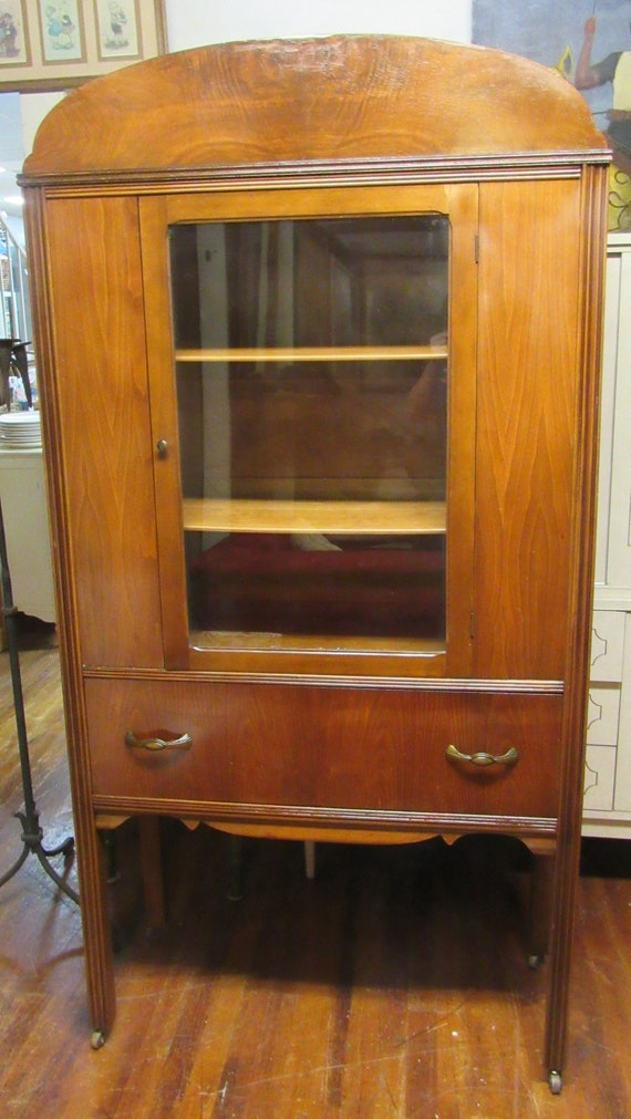 Vintage china cabinet with drawer