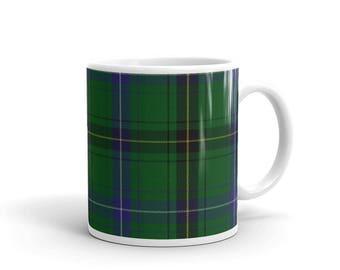 Henderson Scottish Clan Tartan Plaid Coffee Mug Two sizes! Printed-to-order in the U.S.A. - Free Shipping!