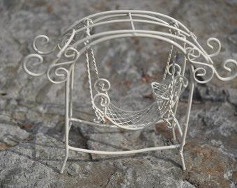 Fairy Garden Chair Swing+Fairy Garden Accessory