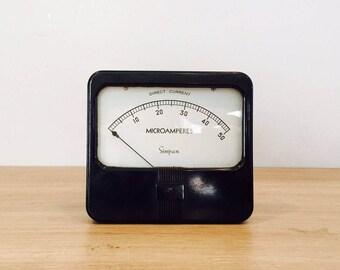 Vintage Simpson DC Microamperes Panel Meter Gauge Indicator